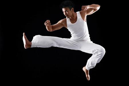 Man practising martial art LANG_EVOIMAGES