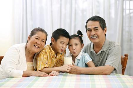 grandkids: Family spending time together