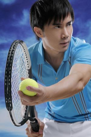 agility people: Man playing tennis