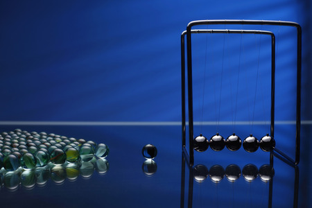 newtons cradle: Marbles and Newtons cradle