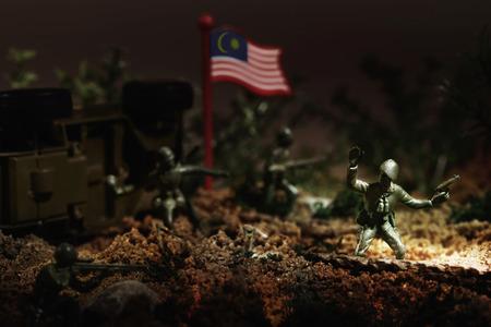 Savaş mücadele oyuncak askerler