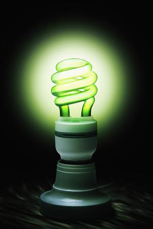 illuminated: Illuminated lightbulb