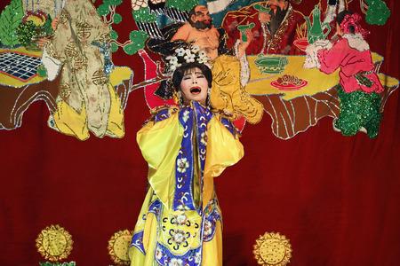 Opera performer on stage