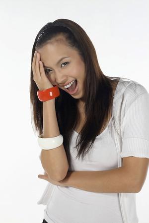femme qui rit: Femme de rire  LANG_EVOIMAGES