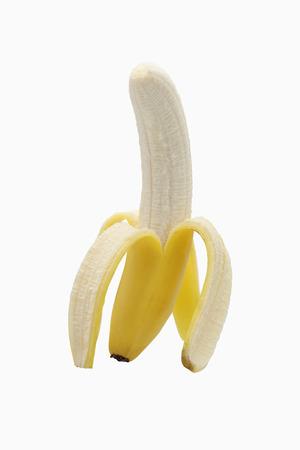 peeled: A partially peeled banana