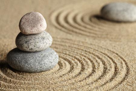 tranquillity: Zen stones in rock garden