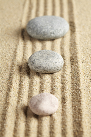 tranquillity: Stones in rock garden lined up in a row LANG_EVOIMAGES