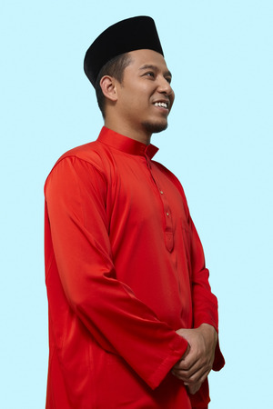 traditional clothing: Man in traditional clothing smiling