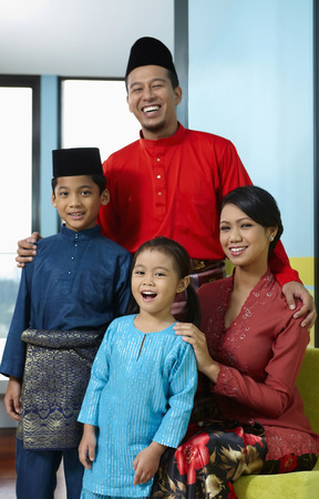 Family in traditional clothing