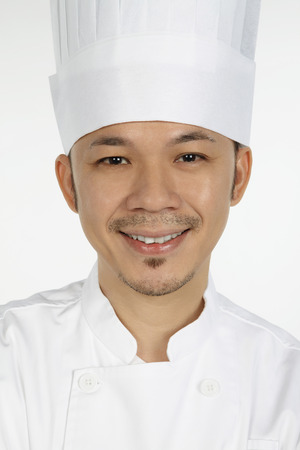 asian chef: Asian chef smiling