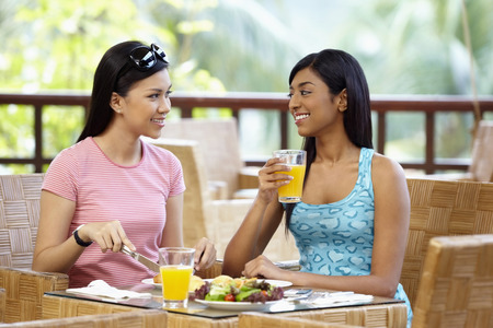 Women having lunch together 免版税图像