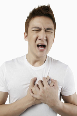 chest pain: Man having chest pain