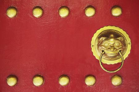 ornate door: Ornate door knocker