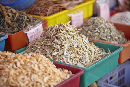 indulgence: Dried anchovies for sale