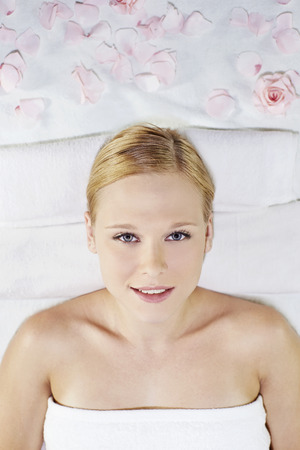 russian ethnicity: A young woman lying on her back relaxing
