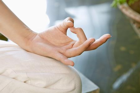 hand gesture: Close up of a meditation hand gesture LANG_EVOIMAGES