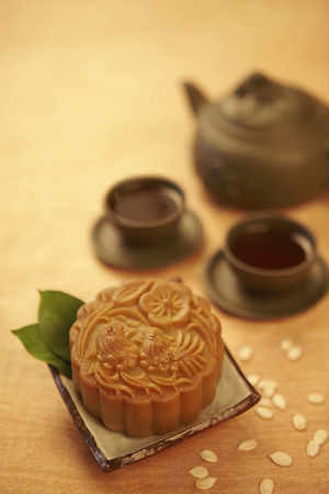 Close up image of mooncake