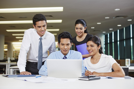 Business partners having a discussion Standard-Bild