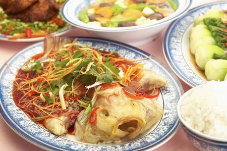 Steamed fish dish