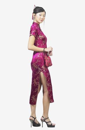 Chinese woman in cheongsam