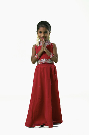 Young Indian girl in traditional Indian dress