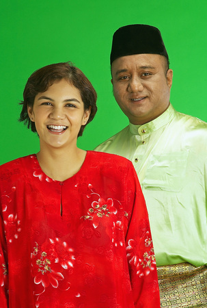 Malay couple in baju melayu