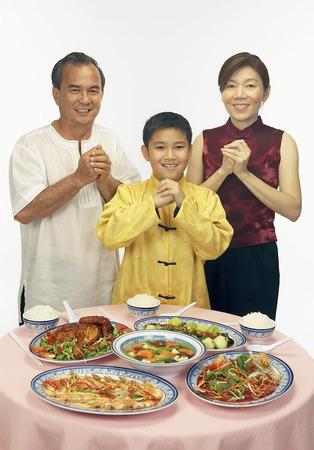 Chinese family having dinner Stock Photo - 85737310