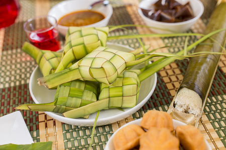 Various types of traditional Malay food
