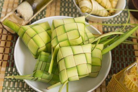 A plate of ketupat
