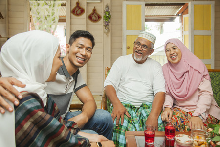 Malay family spending time together Stock Photo