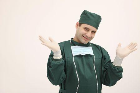 bulgarian ethnicity: Surgeon smiling happily