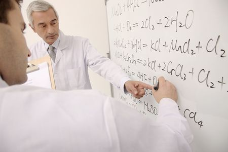 bulgarian ethnicity: Scientists writing on white board