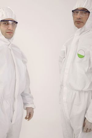 bulgarian ethnicity: Scientists in boiler suits
