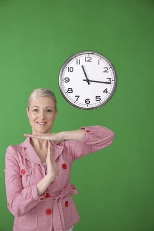 Woman showing time out  photo