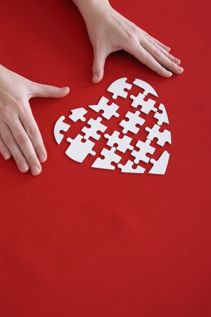 Heart shaped puzzle photo