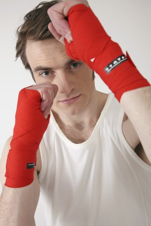 Man with raised fist Stock Photo - 6990728