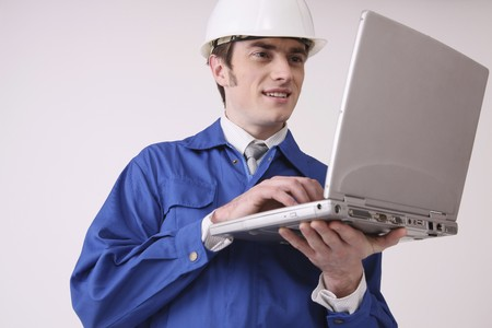 Man using laptop Stock Photo - 6990833