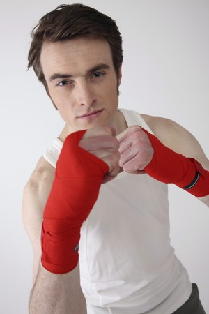Man with raised fist Stock Photo - 6990936