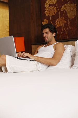 Man using laptop Stock Photo - 6925069