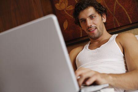 Man using laptop Stock Photo - 6925061