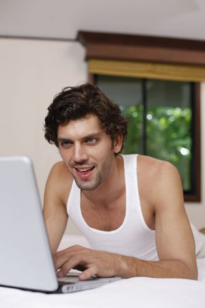 Man using laptop Stock Photo - 6925014