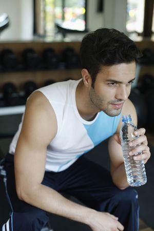 Man holding water bottle Stock Photo - 6925013