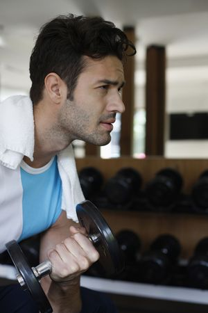 Man lifting weights Stock Photo - 6925015
