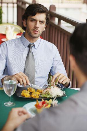 turkish ethnicity: Businessmen having lunch at a restaurant