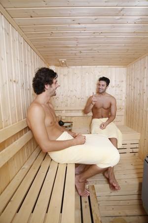turkish ethnicity: Men chatting in sauna