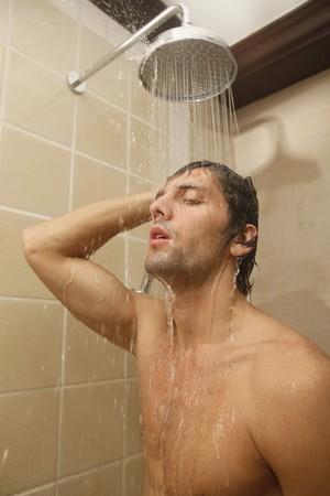turkish ethnicity: Man taking a shower