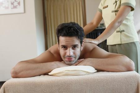 Man receiving a massage Stock Photo - 6974298