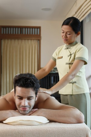 Man receiving a spa treatment Stock Photo - 6974299