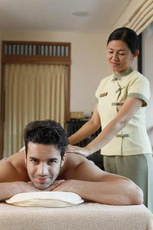 Man receiving a spa treatment Stock Photo - 6974300