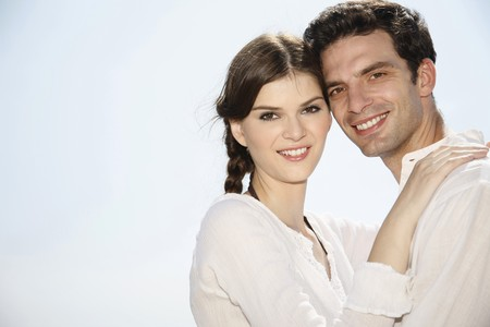 Man and woman embracing photo